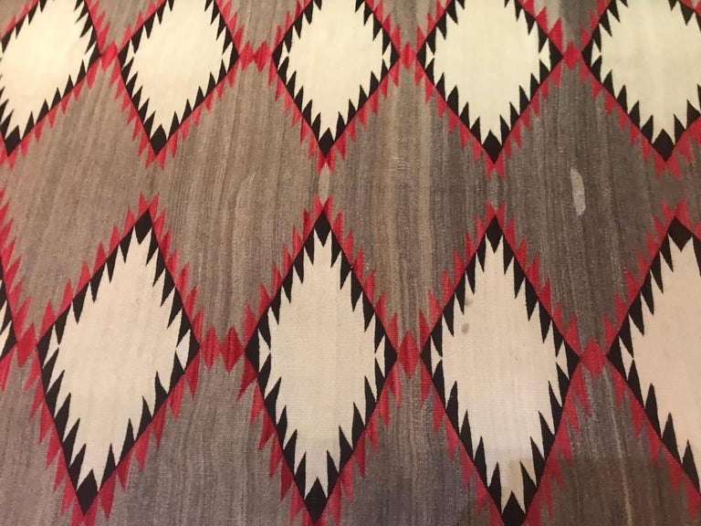 Mid-20th Century Navajo Indian Weaving Runner or Room Size Rug, Monumental For Sale
