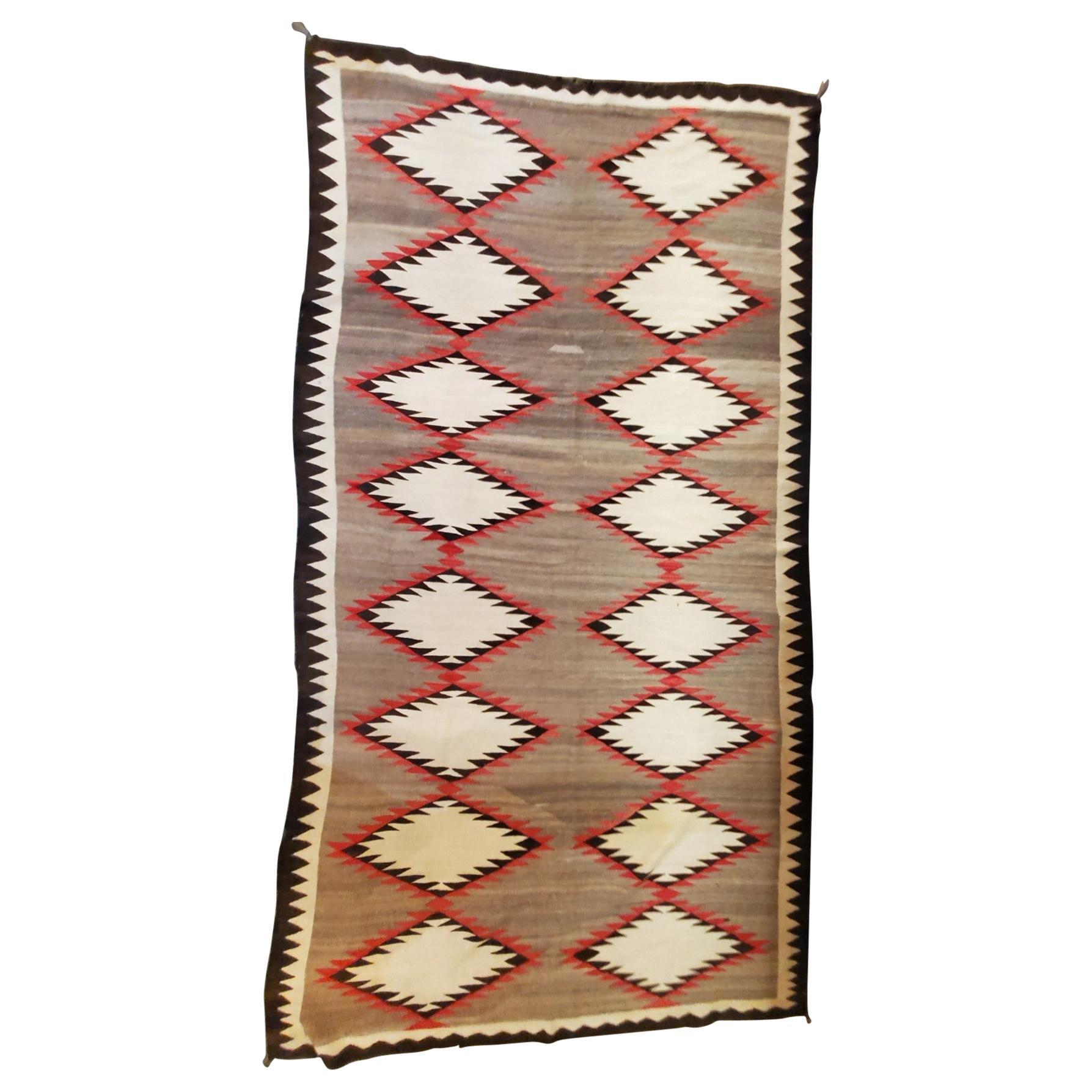 Navajo Indian Weaving Runner or Room Size Rug, Monumental