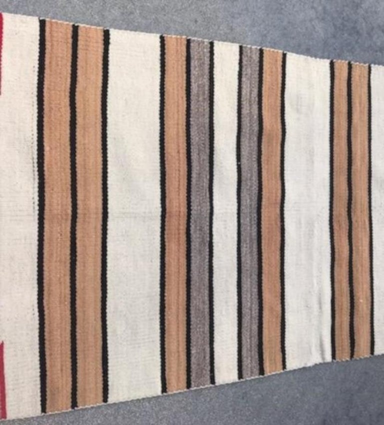 American Navajo Indian Weaving / Saddle Blanket For Sale