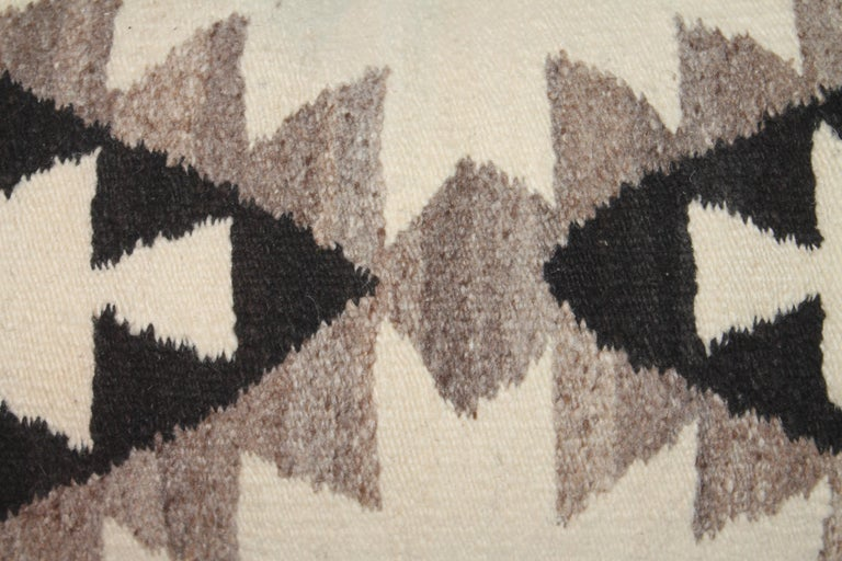 Adirondack Navajo Indian Weaving Saddle Blanket Pillow For Sale