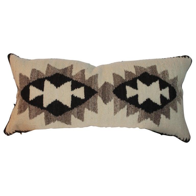 Navajo Indian Weaving Saddle Blanket Pillow For Sale