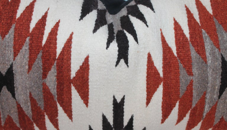American Navajo Indian Weaving Saddle Blanket Pillows, 2 For Sale