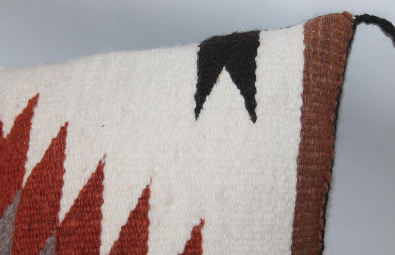 Hand-Woven Navajo Indian Weaving Saddle Blanket Pillows, 2 For Sale