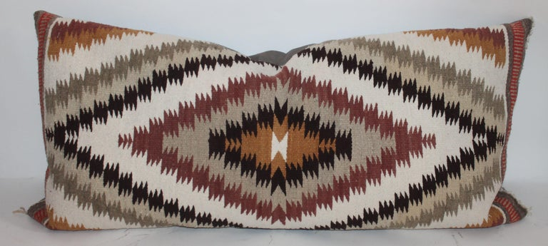 Navajo Indian Weaving Saddle Blanket Pillows, 2 In Good Condition For Sale In Los Angeles, CA