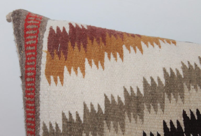 20th Century Navajo Indian Weaving Saddle Blanket Pillows, 2 For Sale