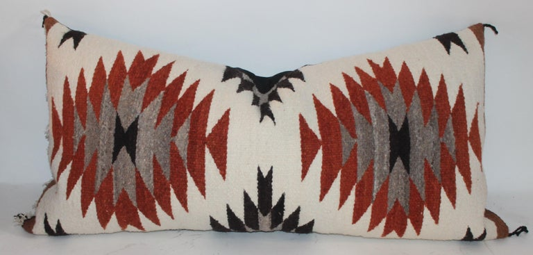 Navajo Indian Weaving Saddle Blanket Pillows, 2 For Sale 1