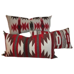 Navajo Indian Weaving Saddle Blanket Pillows / 3