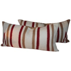 Navajo Indian Weaving Saddle Blanket Pillows or Pair