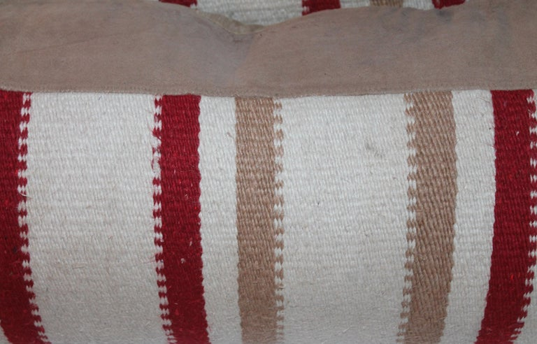 American Navajo Indian Weaving Saddle Blanket Pillows, Pair For Sale