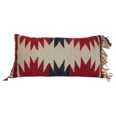 Navajo Indian Weaving Small Bolster Pillow
