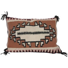 Navajo Indian Weaving Two Grey Hills Bolster