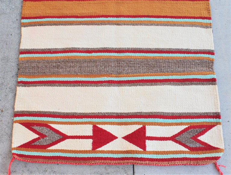 Adirondack Navajo Indian Weaving with Arrows For Sale