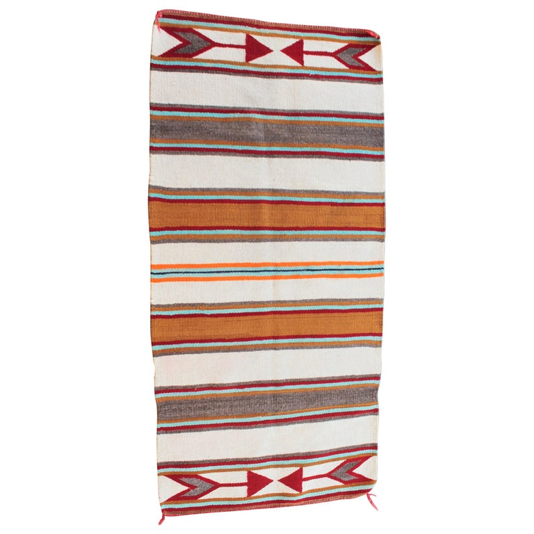 Navajo Indian Weaving with Arrows For Sale