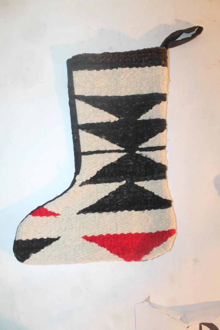 Navajo Indian Weaving Xmas Stockings, Pair