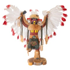 "Navajo Kachina ""Red Tail Hawk"" by F. Charlie"
