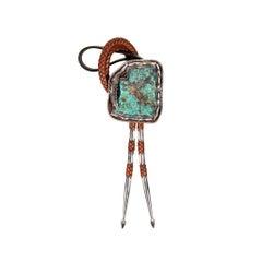 Navajo Kingman Turquoise Bolo