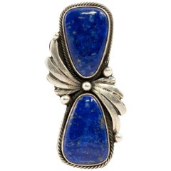 Navajo Lapis and Sterling Silver Ring