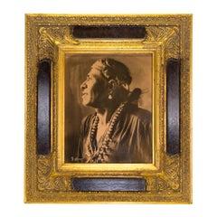"""Navajo Medicine Man"" Gold Tone Photograph"