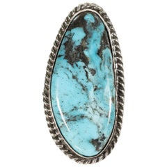 Navajo Natural Indian Mountain Turquoise Ring