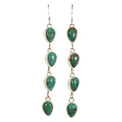 Navajo Natural Royston Turquoise Earrings
