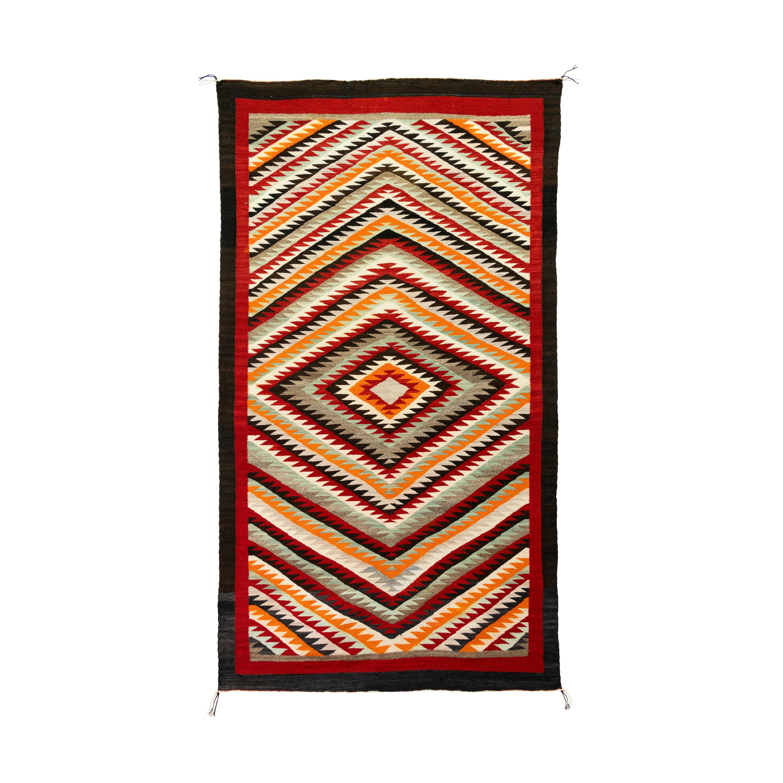 Navajo Red Mesa Saddle Blanket/Floor Weaving
