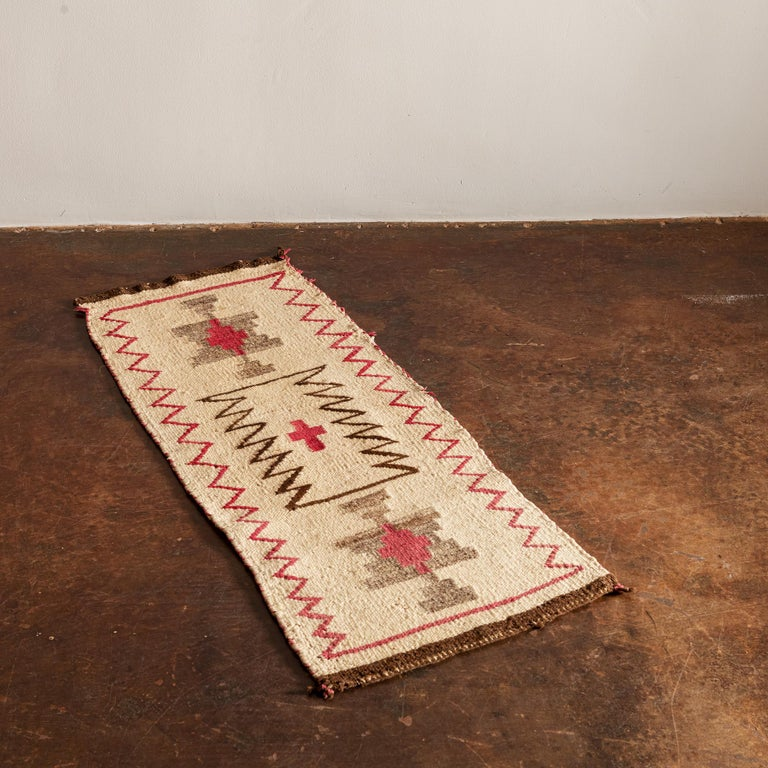 A handsome Navajo regional runner in a lovely, neutral palette, 1920s.