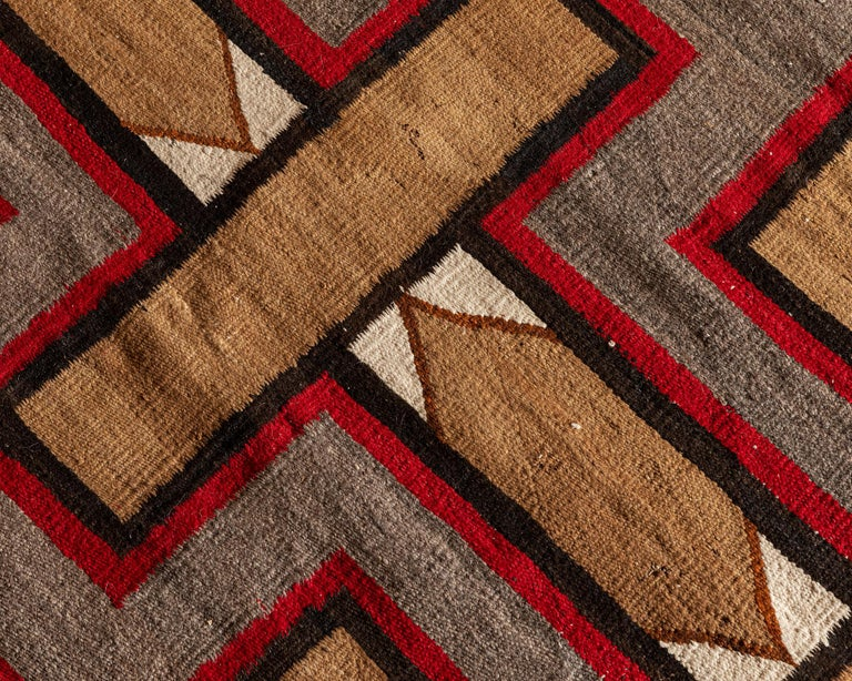 Hand-Woven Navajo Regional Textile, 1930s For Sale