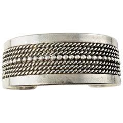 Navajo Ron Yazzie Sterling Silver Cuff Bracelet