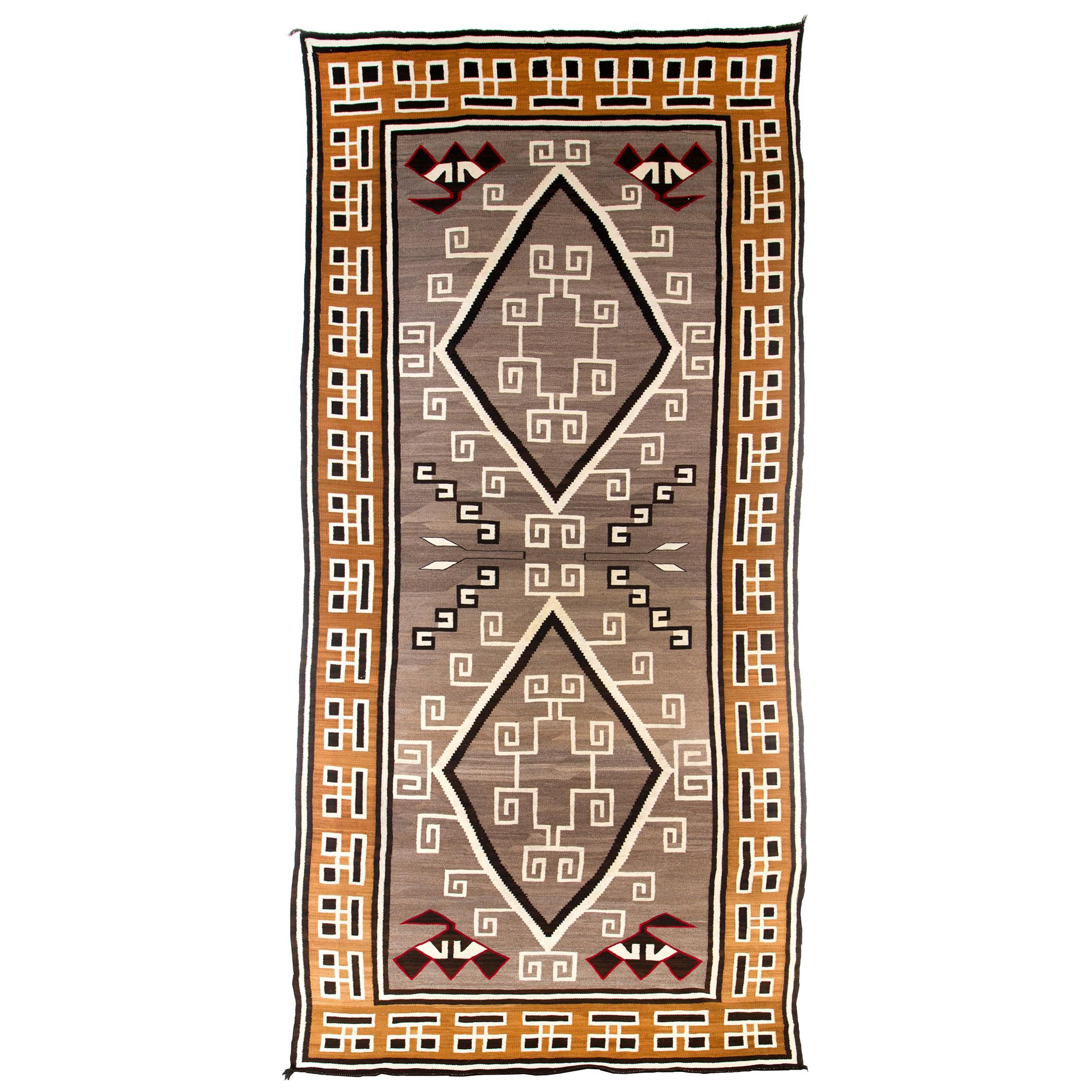 Navajo Rug, Large Area Rug, Vintage 1910s-1920s, Crystal Ganado Trading Post