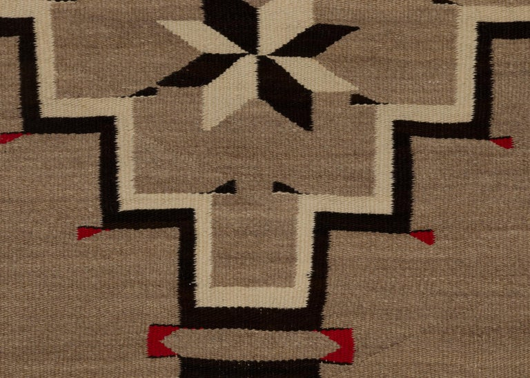 Mid-20th Century Navajo Rug, Vintage circa 1935 Trading Post Era Southwestern Weaving For Sale