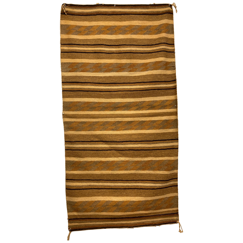 Navajo Rug with Horizontal Bands