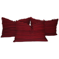 Navajo Saddle Blanket Indian Weaving Pillows a Set of 3