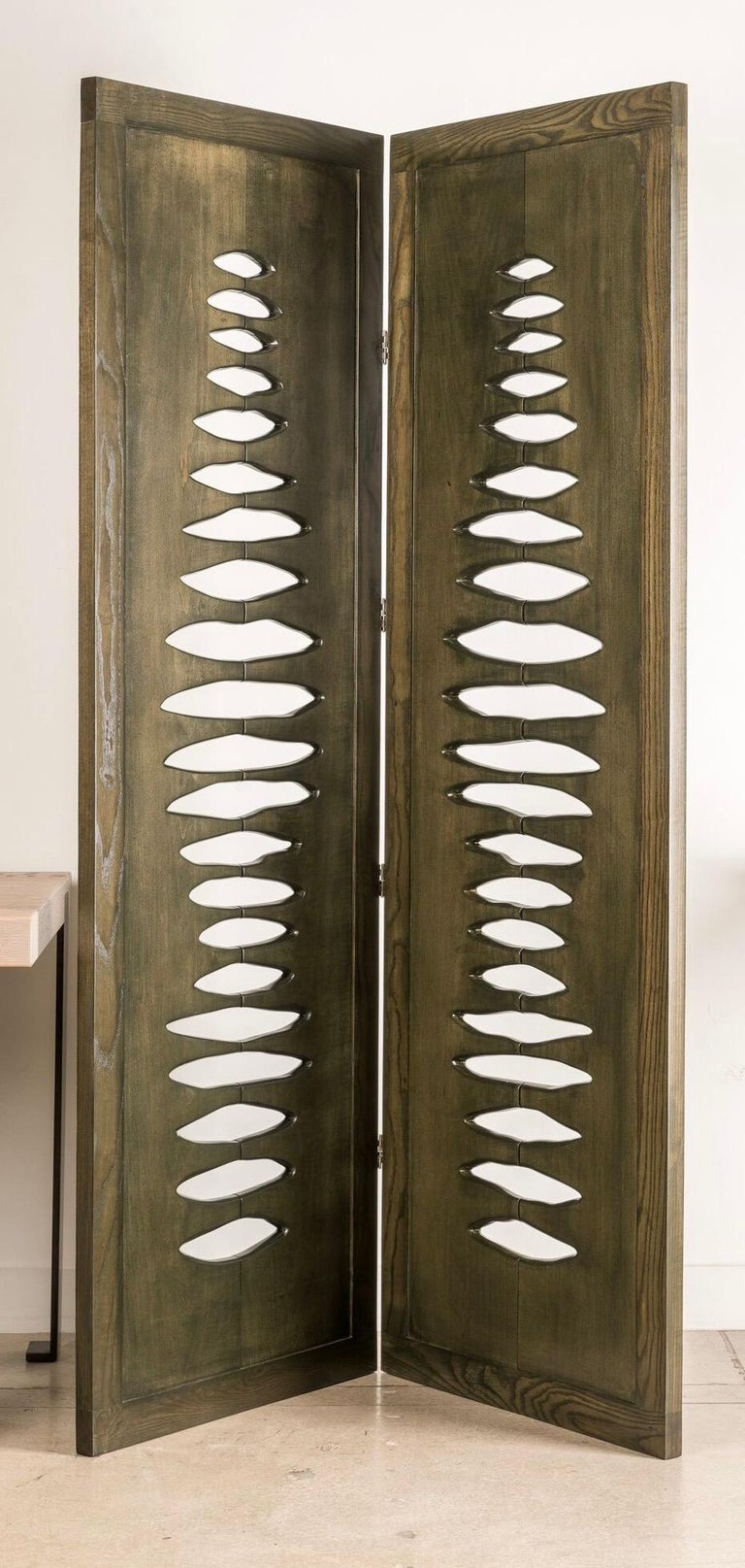 'Navajo' Sculptural Screen Space Divider in Solid Wood by Vivian Carbonell For Sale 1