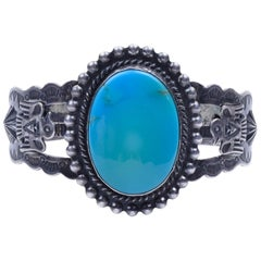 Navajo Sleeping Beauty Turquoise Bracelet