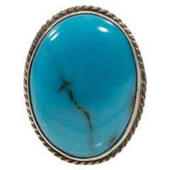 Navajo Sleeping Beauty Turquoise Ring