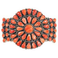 Navajo Spiny Oyster Sterling Bracelet