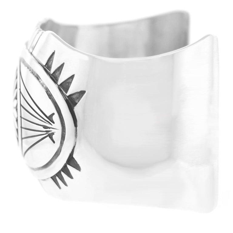 Women's or Men's Navajo Sterling Cuff Bracelet For Sale