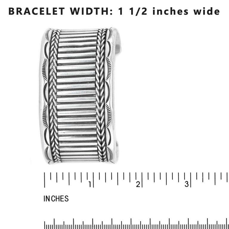 Navajo Sterling Cuff Bracelet For Sale 1