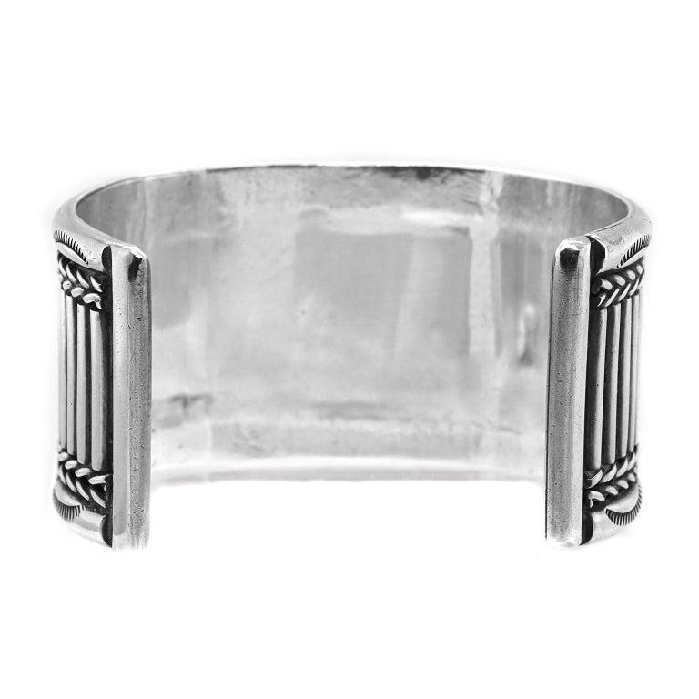 Navajo Sterling Cuff Bracelet For Sale 3