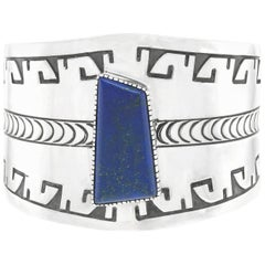 Navajo Sterling Cuff Bracelet Johnathan Nez
