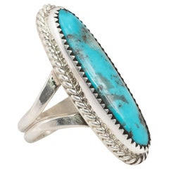 Navajo Triple Creek Turquoise and Sterling Ring