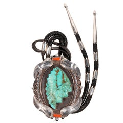 Navajo Turquoise Indian Chief Bolo