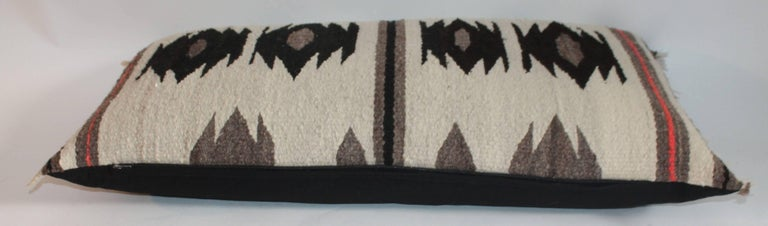 Native American Navajo Weaving / Geometric Saddle Blanket Pillow For Sale