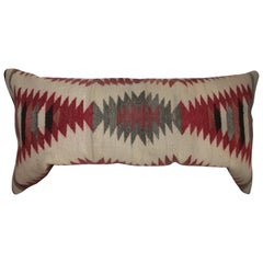 Navajo Weaving / Saddle Blanket Pillow with Suede Backing
