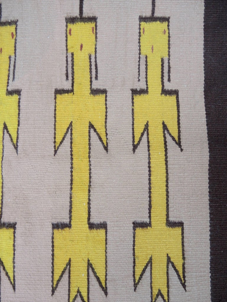 Navajo Yei Rug Woven by Nelly Nez with the Original Fred Harvey Tag In Good Condition For Sale In Antwerp, BE
