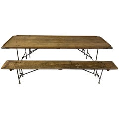 Naval Aircraft Carrier Folding Table and Benches