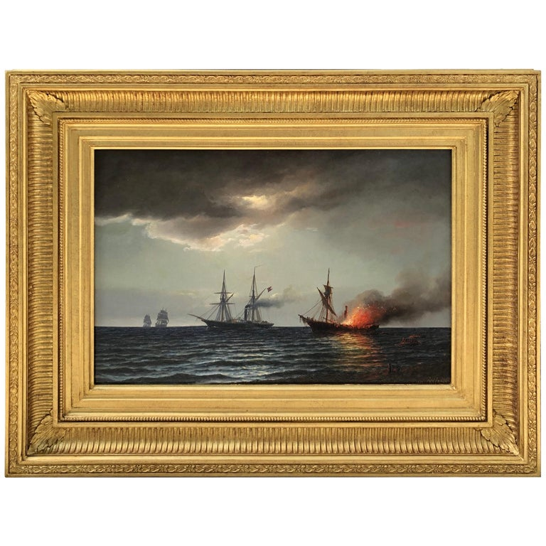 """""""Naval Engagement"""" by Carl Bille For Sale"""