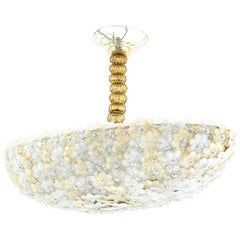 Navette Shape Chandelier in Murano Glass, Contemporary Work