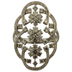 Navette Style Diamond Gold Ring
