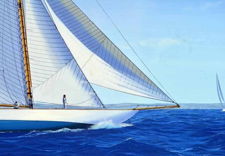 International Style 'Navigating the Med' Large Detailed Seascape by James Miller, British For Sale